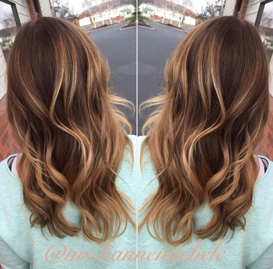 Bailage golden brunette caramel waves