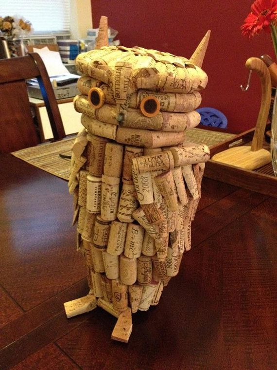 """This 19"""" statue sold for $300. Custom Cork Statue by ARTOFFICIALbydesign on Etsy, $200.00"""