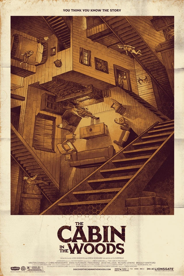The Cabin in the Woods - Illustration Film Poster