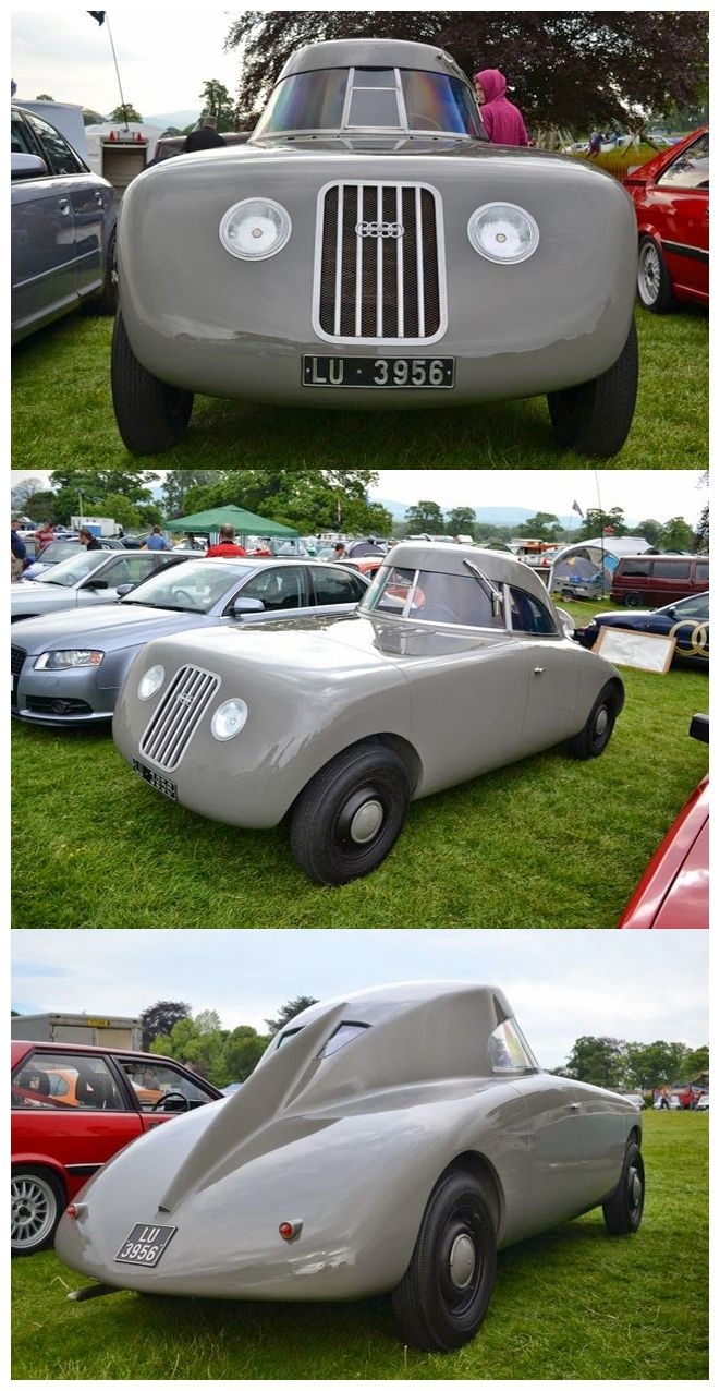 1923 Audi Jaray. Designed by Paul Jaray an Hungarian engineer, for Audi.Unfortunately it was way too ahead of its time in the styling stakes and it didn't make production.