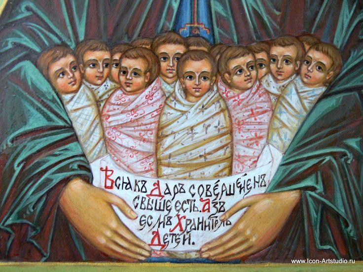 Фрагмент иконы -  преп.Стилиан - иконописец Ольга Мазаева, www.icon-artstudio.ru