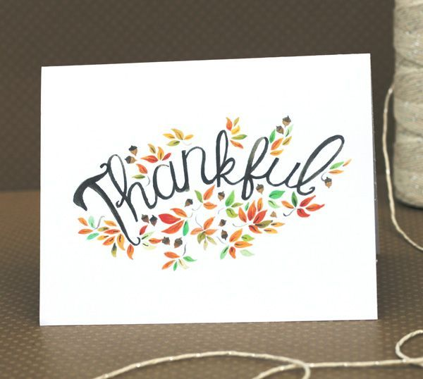 Free printable fall Thank You card. Perfect for Thanksgiving!