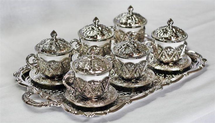 copper embroidered, tea set