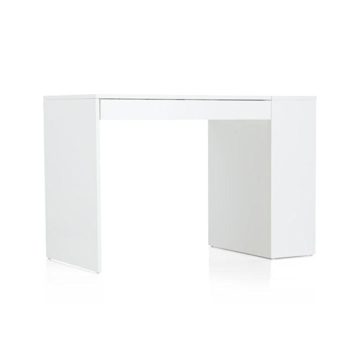 Treble White Desk Crate And Barrel 499 Storage In 2