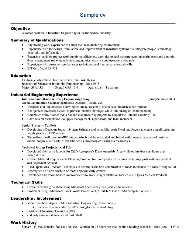 Sample Graduate School Resume  Sample Resume And Free Resume