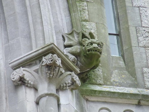 Gargoyle on St. Colman's Cathedral, Cobh, Ireland.