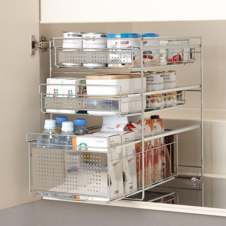 ディノス(dinos)オンラインショップ、こちらはシンク下キッチン収納ラックシリーズ スライドラック 3段 幅30高さ45cmの商品ページです。商品の説明や仕様、お手入れ方法、 買った人の口コミなど情報満載です。