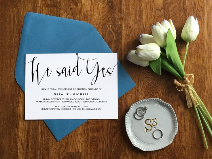 He said yes engagement party invitation! | Engagement Invitation Template | Editable Engagement Announcement | Engagement Party Invitation | Engagement Party Stationery | Wedding Stationery | He Said Yes | Gay Engagement Party Invitation | #engagementparty #stationery