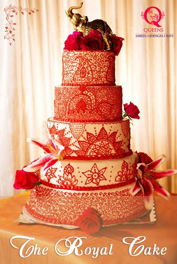 From the use two dominant bridal colours in India to the designs and the golden elephant, this wedding cake has a royal touch to it. ‪#‎QueensEmporium‬ ‪#‎Mumbai‬ ‪#‎WeddingTrends‬