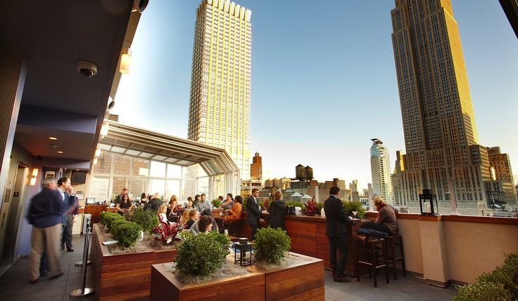 Top of The Strand Hotel, NYC - If you love the Empire State building, the view doesn't get any better!