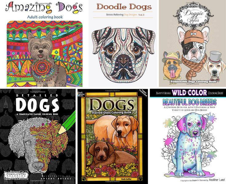 Weve Rounded Up 12 Great Stress Relieving Adult Coloring Books Featuring Our Favorite Subject Dogs