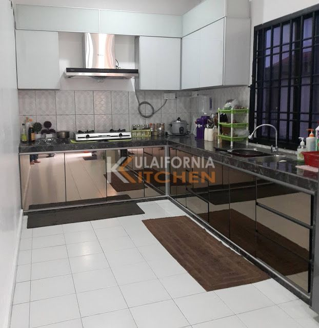 Johor Furniture And Kitchen Cabinet Aluminium Kitchen Cabinet Mirror Finish Glass Do Aluminum Kitchen Cabinets Aluminium Kitchen Glass Kitchen Cabinet Doors