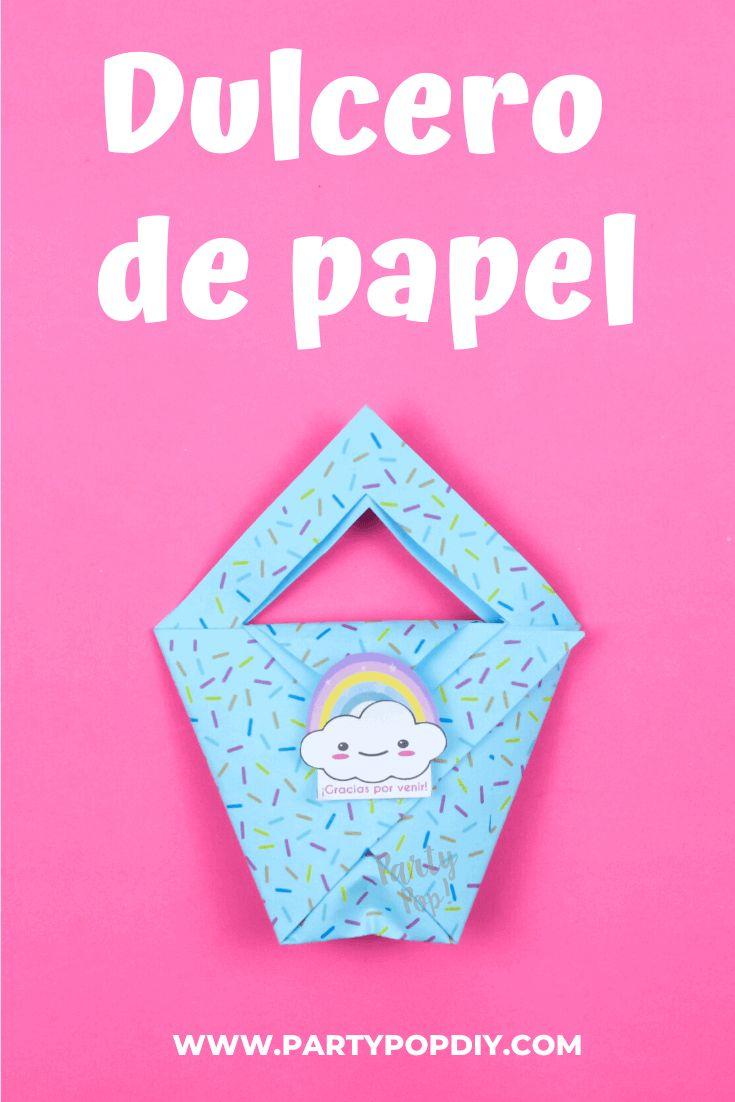 Dulcero de papel #dulcero #dulcerodepapel #dulceros #diadelniño Baby Shower, Alba, Diy, Cakes, Boy's Day, Birthday Cards, Sachets, Parties Kids, Printables