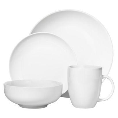 Threshold™ 16 Piece Coupe Dinnerware Set - White