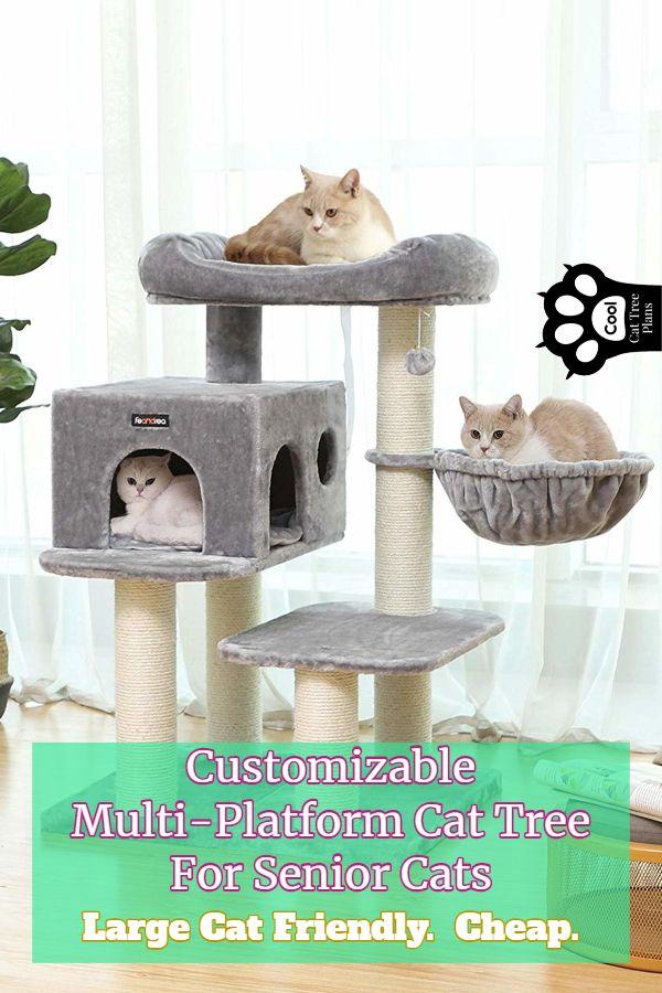 Customizable Multi Platform Cat Tree For Senior Cats Cool Cat Tree Plans Cat Tree Plans Cool Cat Trees Senior Cat