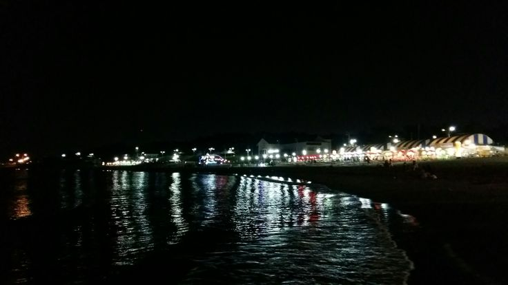 Night sea of jeju island