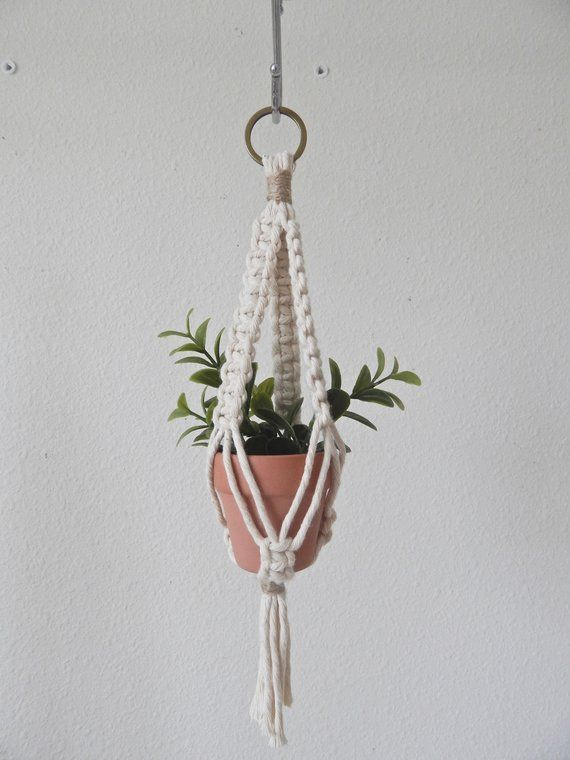 Mini Macrame Plant Hanger Plant Hanger For Car Boho Dorm Room