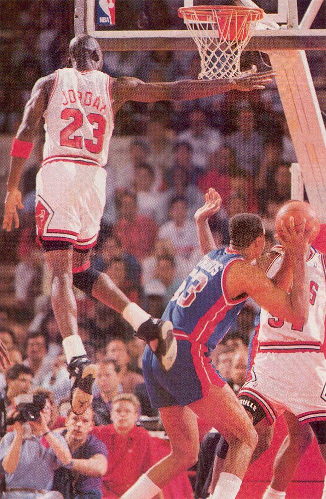 onlythebestnba: 1989-90 Eastern Finals Game 7 Michael Jordan Block Vs James Edwards