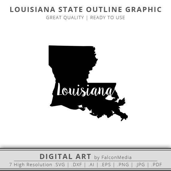 louisiana silhouette cameo outline - 570×570