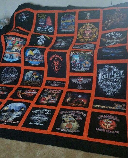 Jim's Harley Davidson T shirt quilt