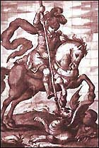 ST. GEORGE - Patron Saint of England - Feast Day is April 23.