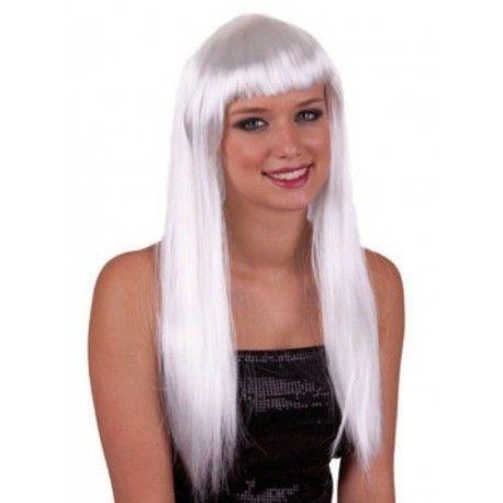 Perruque blanche longue femme