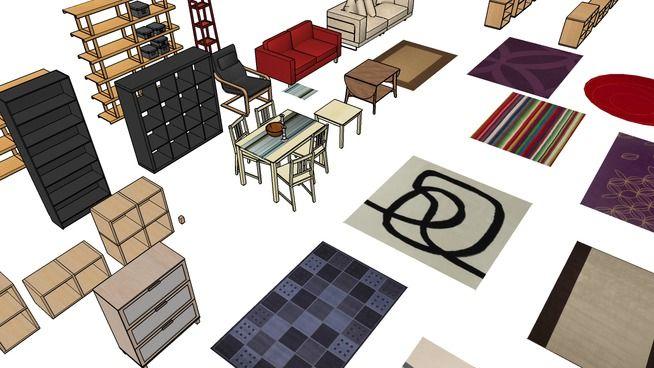 Ikea Various Furniture 3d Warehouse Sketchup