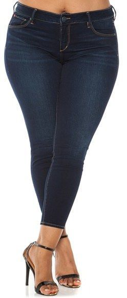 Plus Size Stretch Ankle Skinny Jeans
