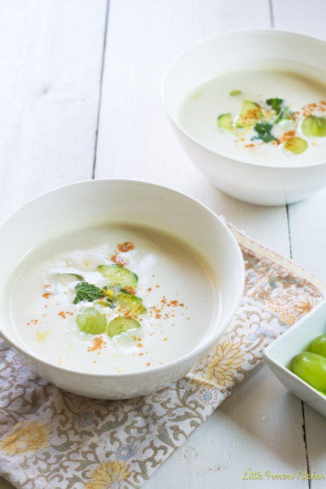 White Gazpacho via LittleFerraroKitchen.com