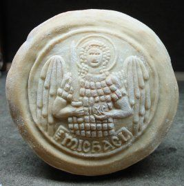bread stamp - this picture is st Michael - many more cool stamps on this site