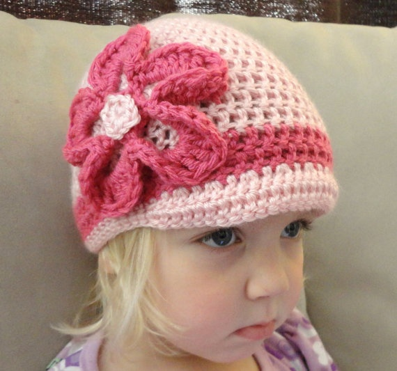 Brimmed Hat Crochet Winter Beanie With Crochet by YoureHooked, $18.00