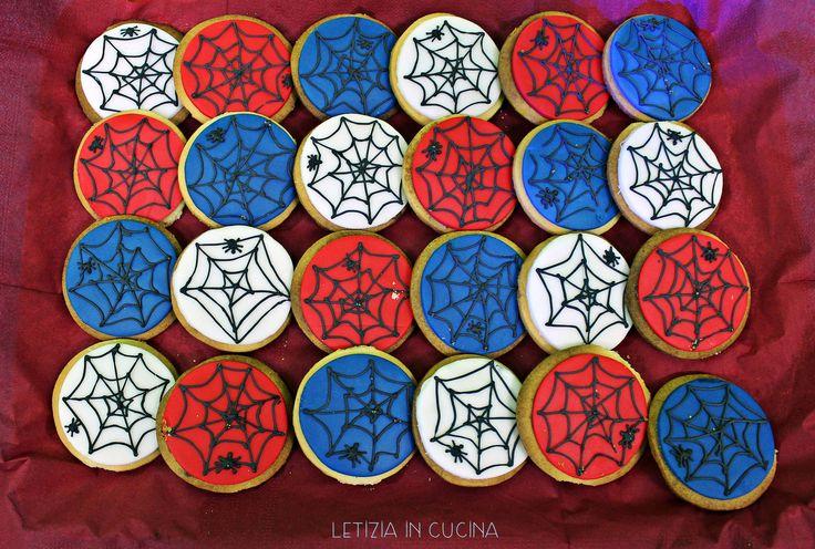 Biscotti Spideraman - Spiderman Cookies