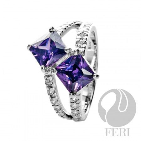 Love Story - Ring     - 0.5 micron natural rhodium plating  - Set with AAA white cubic zirconia and purple cubic zirconia https://www.globalwealthtrade.com/vdm/display_item.php?referral=stephjames&category=66&item=5489&cntylng=&page=3