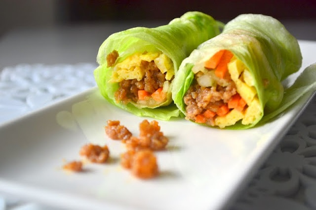 Make it Paleo: These would make a great breakfast burrito. I would stuff the lettuce wrap with Eggs, Sausage and Veggies. No need for the other ingredients! If you do try their recipe keep in mind soy sauce and cornflour are not Paleo friendly.Cold Lettuce, Free Chefs, Soy Sauce, Lettuce Rolls, Breakfast Lettuce, Fuss Free, Lettuce Wraps Rol, Delicious, Brandon Recipe