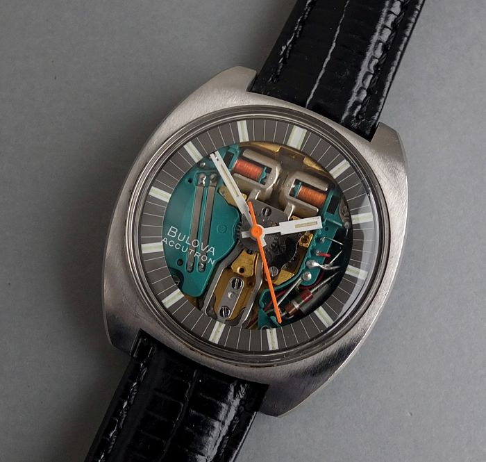 BULOVA ACCUTRON SPACEVIEW Gents Vintage Tuning Fork Watch 1971