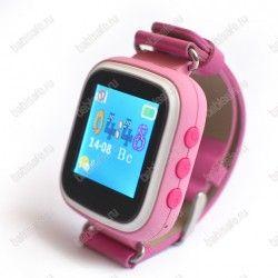 Детские часы с gps трекером Q60s розовые
