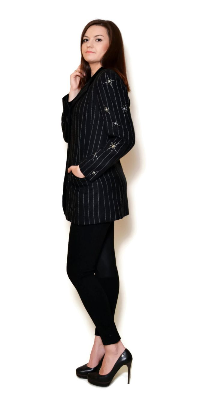 embroidered blazer outfit  US$89.95