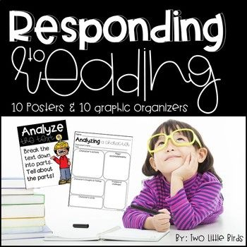 This no prep set of graphic organizers are easy to use with any text. Each graphic organizer has a coordinating classroom poster for students to learn the important vocabulary that comes with responding to reading. You will love these for ELA test prep and constructed responses. ~analyze ~evaluate ~describe ~infer ~support ~explain ~summarize ~predict ~compare ~contrast