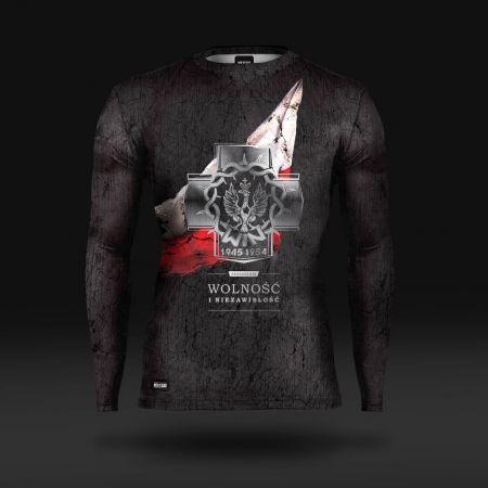 Koszulka sportowa Koszulka do biegania termoaktywna Wolność i Niezawisłość -  - odzież sportowa Red is Bad