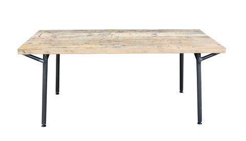 Trammel table: carriage pine joined | Industrial Table | salvationfurniture.com | Warehouse Home Design Magazine