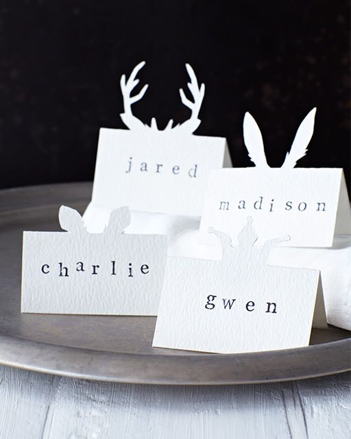 Lova's World: Animal Placecards: Great recipes and more at http://www.sweetpaulmag.com !! @Sweet Paul Magazine