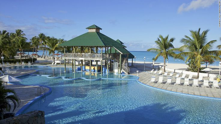 """Jolly Beach Resort & Spa is great for those who want to get out on the turquoise water. Kayaks, Hobie Cats and paddleboats are all at the ready and there are also two pools. <a href=""""http://www.budgettravel.com/slideshow/photos-best-budget-beachfront-all-inclusives,8613/ """" target=""""_blank"""">See more photos of the resorts at BudgetTravel.com</a>"""