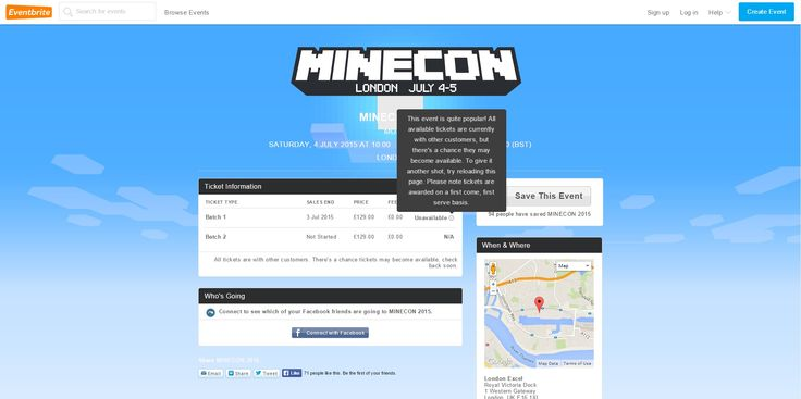 First batch of minecon tickets sell out within minutes
