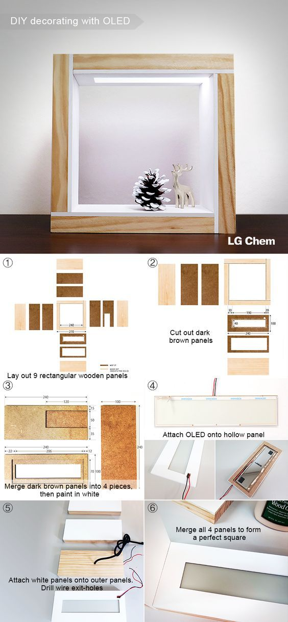 This is how you can create an illuminated picture frame with the Oled DIY Kit by LG Display.