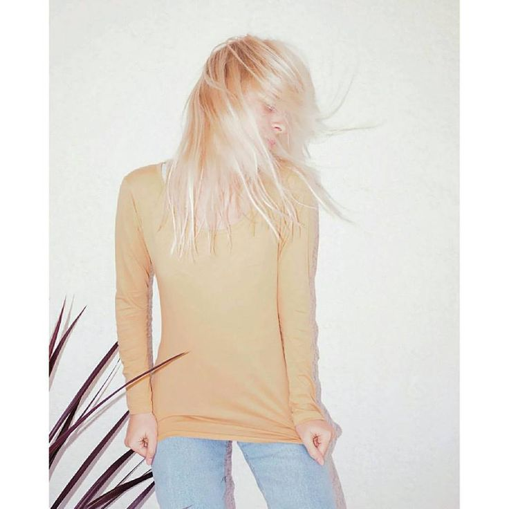 The perfect organic cotton pima basic-our REV Linda tee in camel.