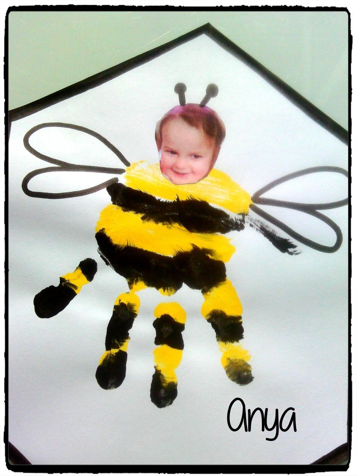 empreinte de mains, abeille, printemps, animains