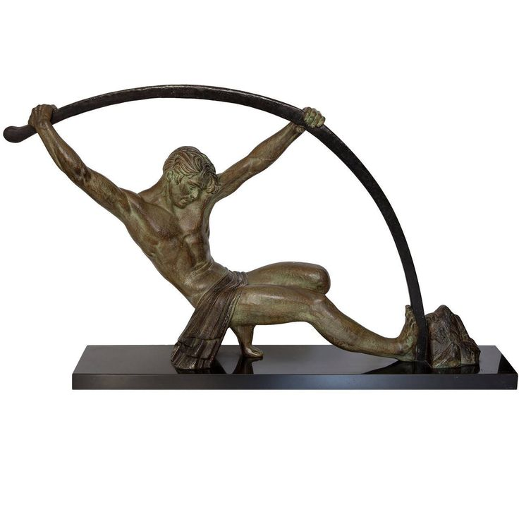 'L'Age Du Bronze,' Demetre Chiparus   From a unique collection of antique and modern sculptures at https://www.1stdibs.com/furniture/decorative-objects/sculptures/