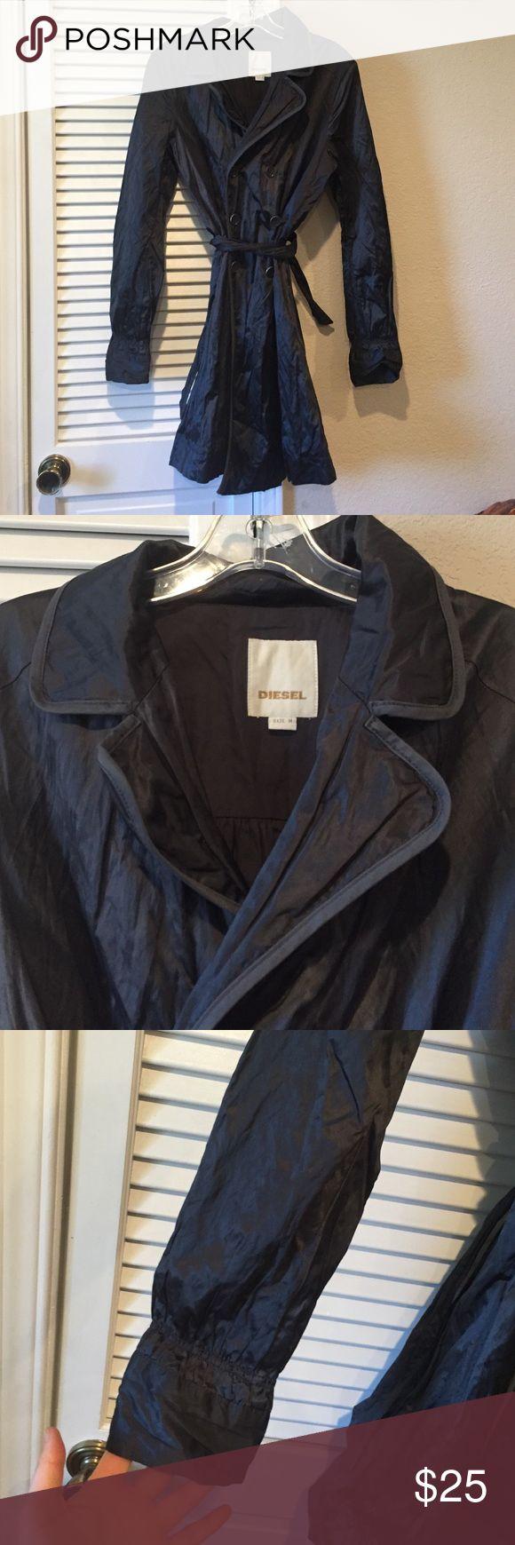 Diesel coat Off-black wrinkly coat Diesel Jackets & Coats