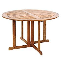 Achla Designs 48-Inch Round Folding Table
