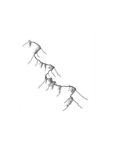 Mountain ridge tattoo idea. Small and discreet, but meaningful.